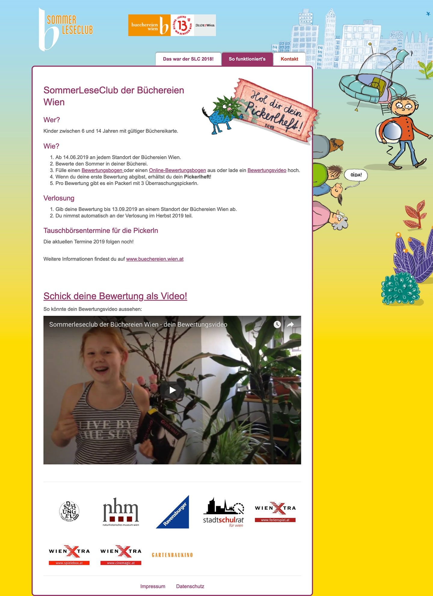 Sommer Leseclub | sommerleseclub.at | 2016 (Screen Full Scroll) © echonet communication